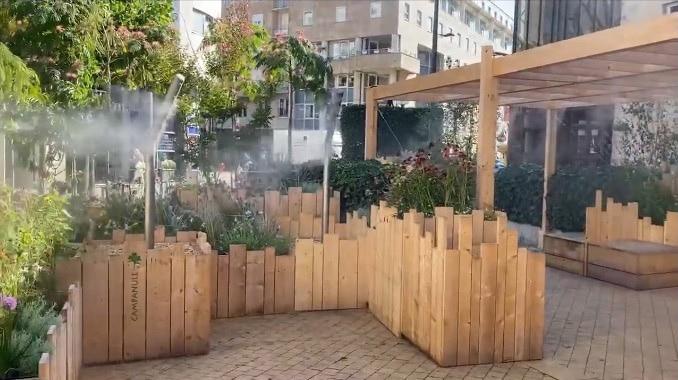 Le jardin éphémère Square des Ursulines
